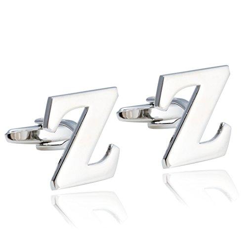 Jstyle Jewelry Personalized Alphabet Cufflinks