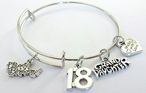 Amazon 18th Birthday Bangle Bracelet Happy Grand