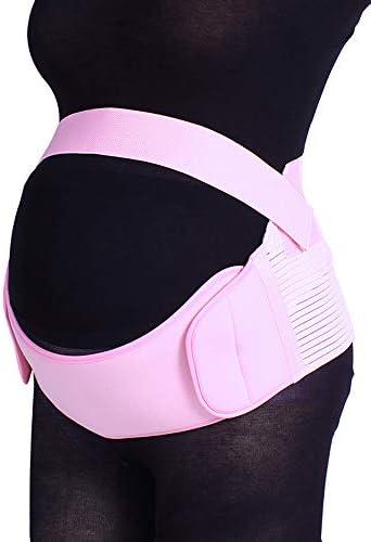 妊娠中の女性のための特別なベルトは、腰痛と秋のベルト妊娠サポートウエスト/背中/腹部バンドの腹部装具を緩和します,ピンク,XL