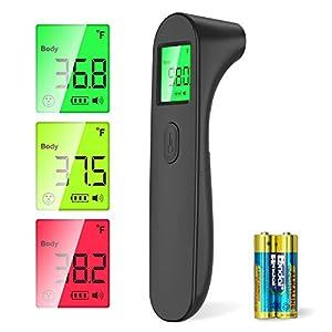 Thermomètre Frontal Thermometre Numérique Infrarouge, SOYES Bébé Adultes Thermometre Frontal sans contact, Température…