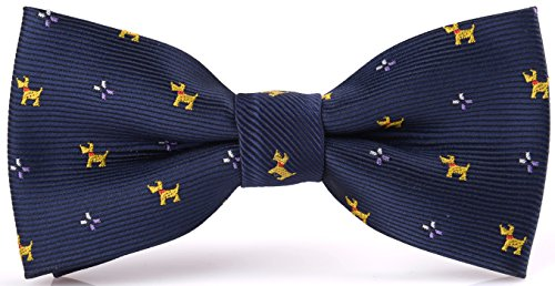Flairs New York Animal Lovers' Collection Little Bow Tie (Midnight Blue / Yellow [Airedale Terrier]) (New York Tweed Jacket)