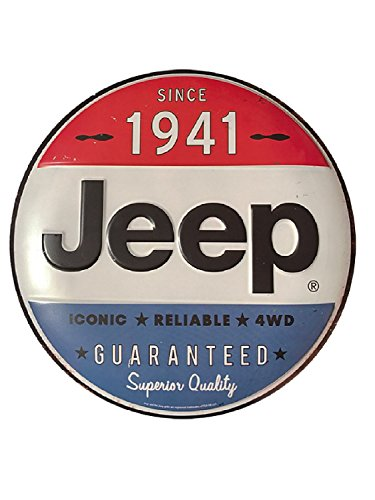 Logo Metal Sign - Jeep Since 1941 Round Metal Sign