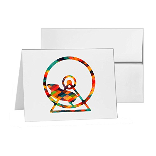 Products Hamster Wheel (Hamster Wheel Cage Exercise, Blank Card Invitation Pack, 15 cards at 4x6, Blank with White Envelopes Style 7521)