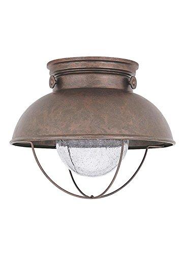 Sea Gull Lighting 886993S-44 Sebring Outdoor Flush Mount, 1-Light LED 14 Watts, Weathered Copper by Sea Gull Lighting