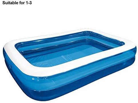 Piscina hinchable familiar, piscina de bolas marinas con fondo de espuma gruesa resistente al desgaste, piscina de salón inflable para bebés, niños, adultos, al aire libre, fiesta de verano en el agua