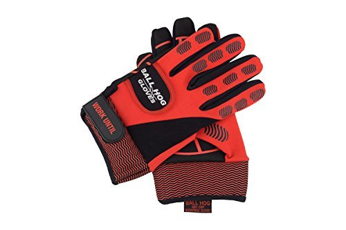 Ball Hog Gloves Total Bundle (Weighted) X - Factor Gloves, D-Cone 3 in 1 Defender, Grip, Weight Lifting Gloves (Large) by Ball Hog Gloves (Image #3)