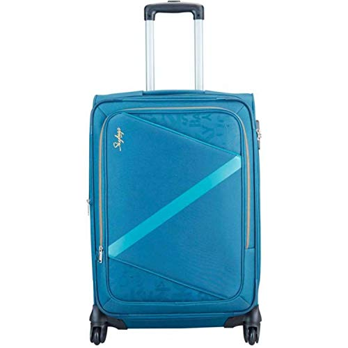 Skybags Spotlight Polyester 4W Exp Strolly  H  58 Expandable 22 Inch Blue Cabin Luggage