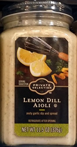 Private Selection Lemon Dill Aioli Zesty Garlic Dip & Spread 11.5 Oz (Pack of 3)