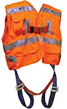 Elk River 55393 Polyester Freedom 3 D-Ring Vest Harness with Mating Buckle and Fall Indicator, Fits Medium to X-Large, Orange