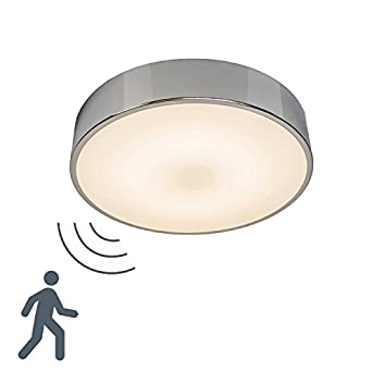High Quality QAZQA Design / Modern / Ceiling Lamp / Ceiling Flush Light Motion II  Aluminium LED With Microwave Motion Sensor / Glass / Round Includes LED  (Non ...