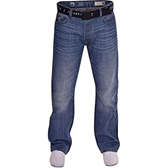 Smith And Jones Mens Bootcut Wide Bottom Hardwearing Fashion Denim