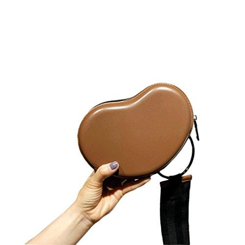 GJ Sac à bandoulière - Sac de plage féminin Sac à dos portable PU Sac à bandoulière poches Sac de loisirs Sac de voyage Sacs de mode Lady (Couleur : Black) Caramel