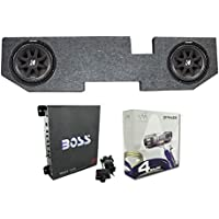 2) KICKER 43C104 10 600W Subwoofers+For Dodge Ram Quad 02-Newer Box+Amp+Wiring