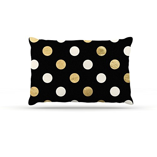 30 by 40\ Kess InHouse Original golden Dots  Metallic Fleece Dog Bed, 30 by 40