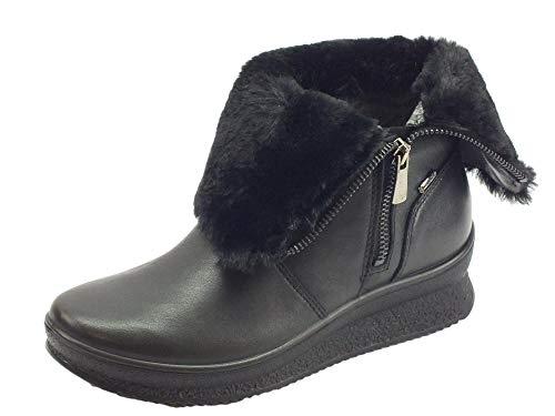 Noire Chaussures Zip Gore 2167100 tex Igi amp;Co Cheveux Nero Femme Bottes q6aAnx1wC