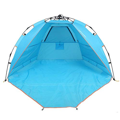 yodo 2 Person Easy Up Beach Tent Sun Shelter Quick Cabana with Carry Bag,Anti UV for Outdoor Fishing Picnic,Blue