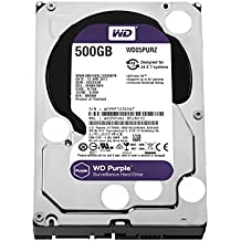 Western Digital 500GB Purple Surveillance Hard Disk Drive 5400 RPM Class SATA 6 Gb/s 64MB Cache 3.5 inch Model WD05PURZ