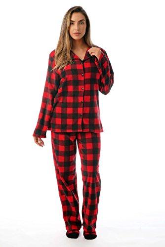 Plus Pajama Top Size (#followme Printed Microfleece Button Front PJ Pant Set with Socks 6370-10195-3X)