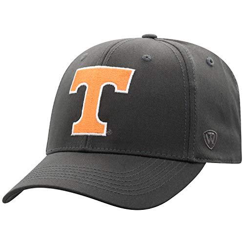 Top of the World Tennessee Volunteers Men's Fitted Hat Icon, Charcoal, One -