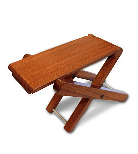 Cordoba Folding Wood Folding Footstool (Rosewood) Guitar Stool ()