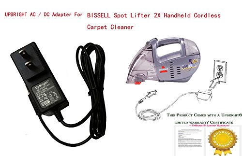 Price comparison product image UpBright New Global AC / DC Adapter For BISSELL Spot Lifter 2X Handheld Cordless Carpet Cleaner 1719 SpotLifter 2X 160-2178 1602178 Power Supply Cord Cable PS Wall Home Battery Charger Mains PSU