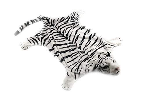 MATFORCA Plush Tiger Rug Animal Decorative Area Rug with Head for Bedroom,Bathroom,Kids Room,Living Room 52x31Inch (White)