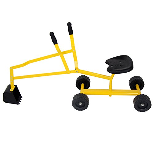 Heavy Duty Kid Ride-on Sand Digger Digging Scooper Excavator for Sand Toy by BUY JOY