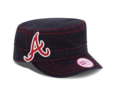 MLB Atlanta Braves Women's Chic Cadet Military Cap (One Size Fits All)
