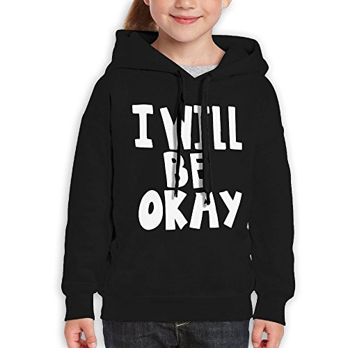 FDFAF Teenager Youth I Will Be Okay Camping Classic Hoodie Hooded Sweatshirt L - Size Juniors Am I In What
