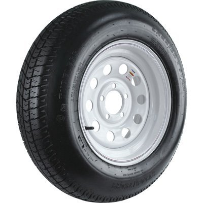 - 5-Hole High Speed Modular Rim Design Trailer Tire Assembly, Model# ST205/75D15