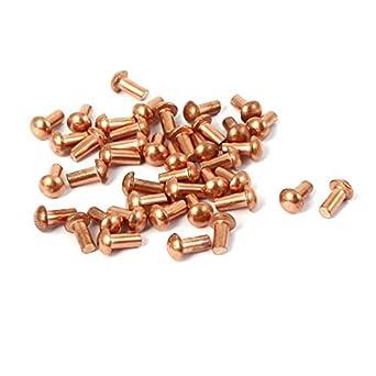 eDealMax a16041400ux0884 remache DE 3 mm x 6 mm Redondo del eje de cobre sólido de