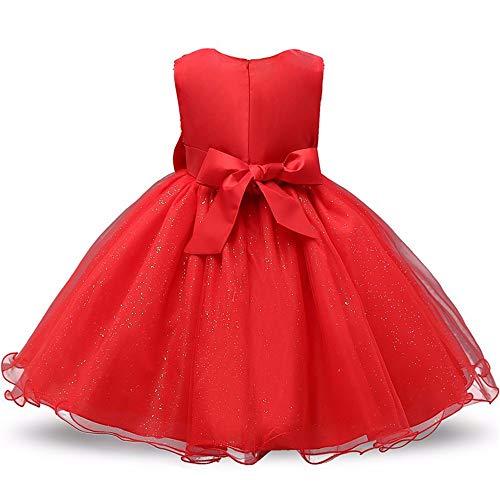 Wang-RX Princesa Vestido de niña de Flores Verano Tutu Boda ...