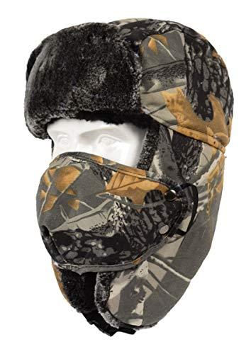 YCMI Camouflage Ushanka Hat Trooper Trapper Hat Winter Ear Flap (Gray Camouflage,Free)