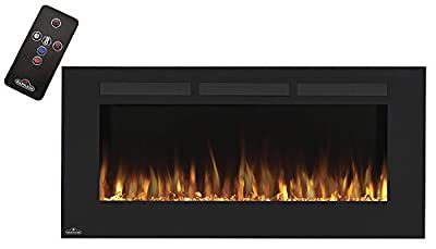 Napoleon Wall Hanging Electric Fireplace, Allure, Linear Wall Mount - 5,000 BTU, 400 Sq. Ft. Heat Coverage Area with Remote Control 1 Year Warranty