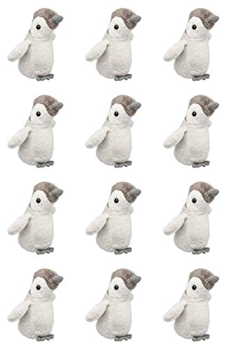 Wildlife Tree 12 Pack Baby Penguin Mini 4 Inch Small Stuffed Animals, Bulk Bundle Zoo Animal Toys, Arctic Party Favors for Kids (Party Penguin Stuff)