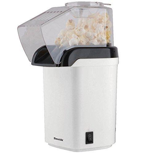 Sentik 1200w Electric Popcorn Maker Machine Fat Free Pop Corn Popper, White