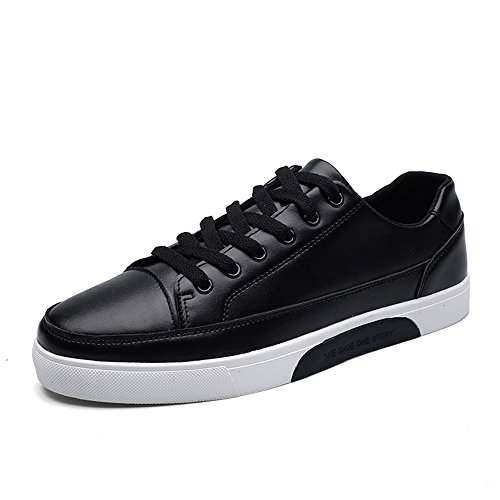 Men's Shoes Feifei Spring and Autumn Leisure Fashion Wear-Resistant Comfortable Plate Shoes 3 Colors (Color : Black, Size : EU40/UK7/CN41)