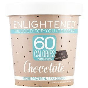 Enlightened - The Good For You Ice Cream, High Protein-Low Sugar-High Fiber-Low Fat, Chocolate, Pint (4 Count)