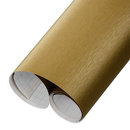 HOHOFILM Brushed Gold Car Vinyl Wrap Automotive Paint Protective Foil Air Bubble Release 60