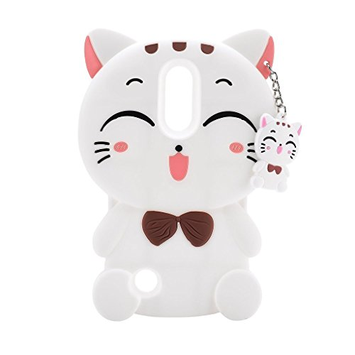 LG Stylus 3 Case, Phenix-Color 3D Cute Cartoon Soft Silicone Hello Kitty Gel Back Cover Case for for LG Stylo 3 / LG Stylo 3 Plus / LG Stylus 3 /LG LS777 (2017) (#06)