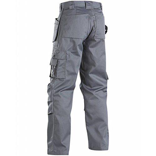 Blaklader 153218609400C46 Floorlayer Trousers, Size 30 (Metric Size C44), Grey