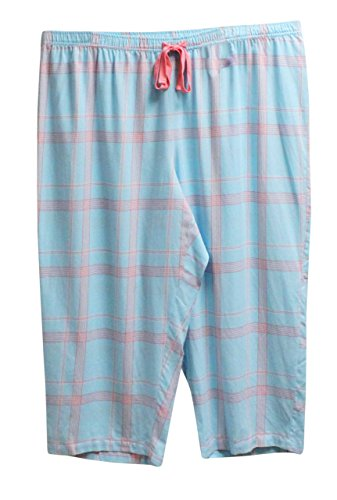 Charter Club Cropped Pajama Pants Bottoms (XXX-Large) Picnic Plaid Blue