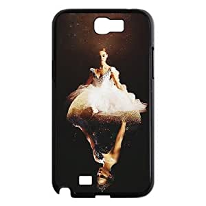 QSWHXN Black Swan Phone Case For Samsung Galaxy Note 2 N7100 [Pattern-2]