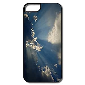 IPhone 5S Cases, Cloud Sunbeam White/black Cover For IPhone 5