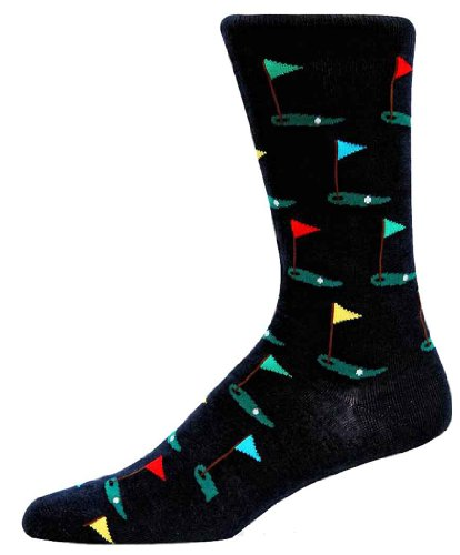 Hot Sox Men's Golf Slack Sock,Navy