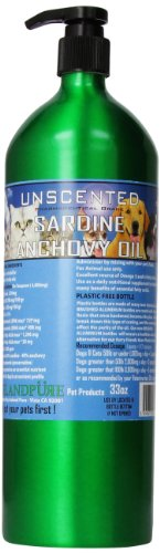 Iceland Pure Unscented Pharmaceutical Grade Sardine Anchovy Oil For Dogs and Cats.Bottle Size - Sample Dog Foods