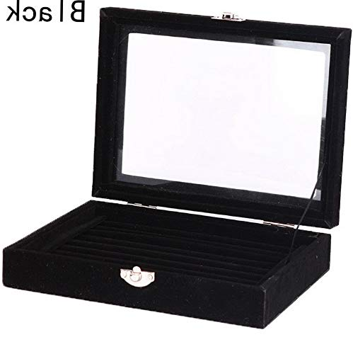 Mikash Jewelry Velvet Wood Ring Display Organizer Box Holder Earrings Storage Case Sky | Model JWRLBX - 2043 |