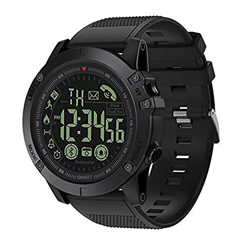 T1 Tact Sports Smart Watch, Digital Outdoor Sports Smartwatch for Men with Pedometer, Calorie Counter, Distance, Stopwatch, Clock Alarm, Notifications for Android and iOS Phones ()