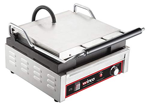 Winco EPG-1C, 14 X 16-Inch Single Surface Electric Panini Grill, 120V~60Hz, 1800W, 15A, NSF, Sandwich Press, Panini Maker, Panini Press by Winco (Image #1)