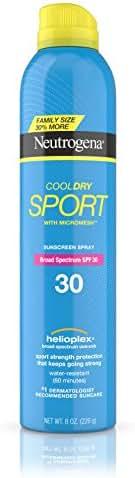 Neutrogena CoolDry Sport Sunscreen Spray, Water Resistant Broad Spectrum SPF 30, 8 oz